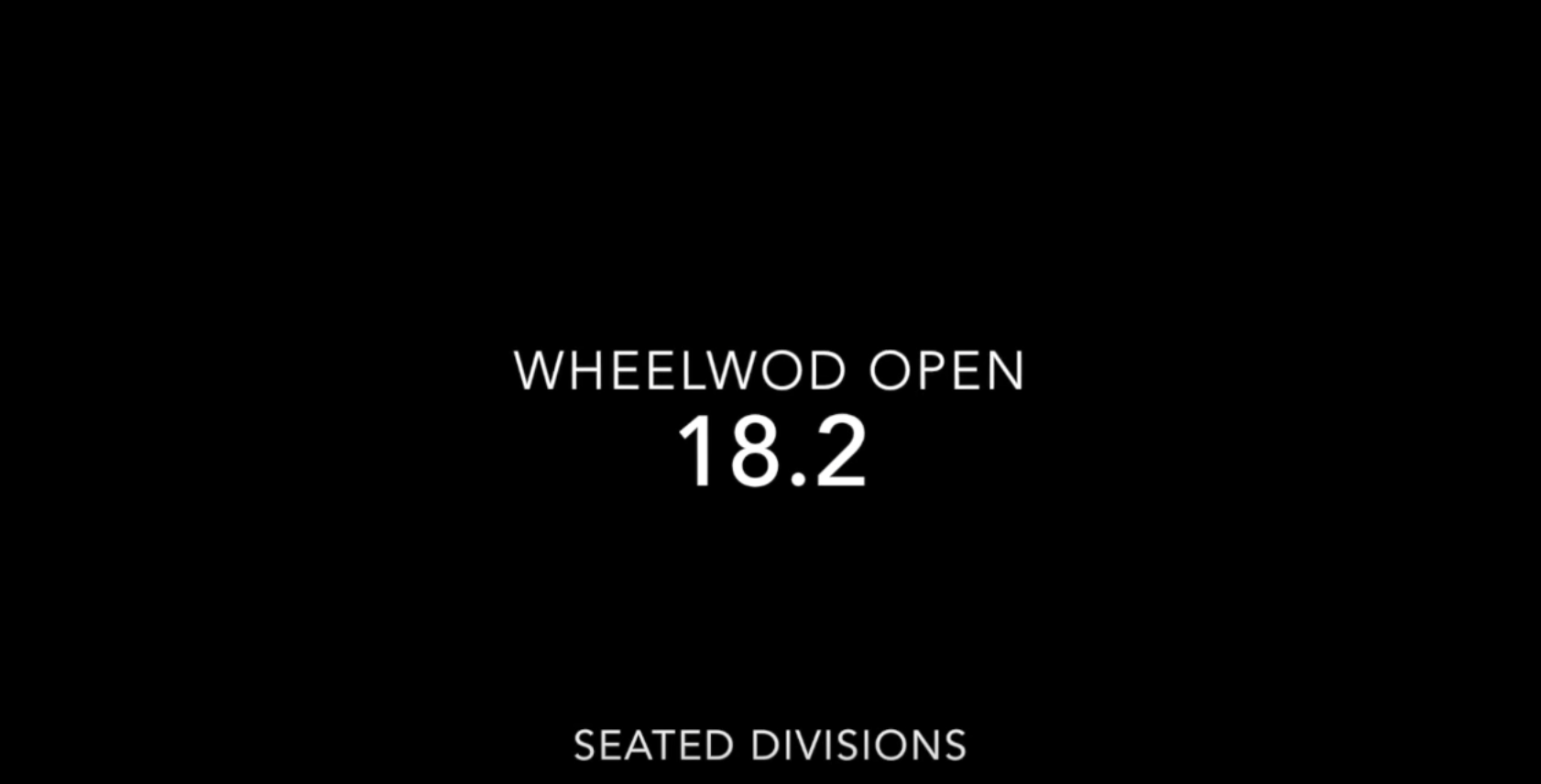 18.2 Seated WheelWOD Open