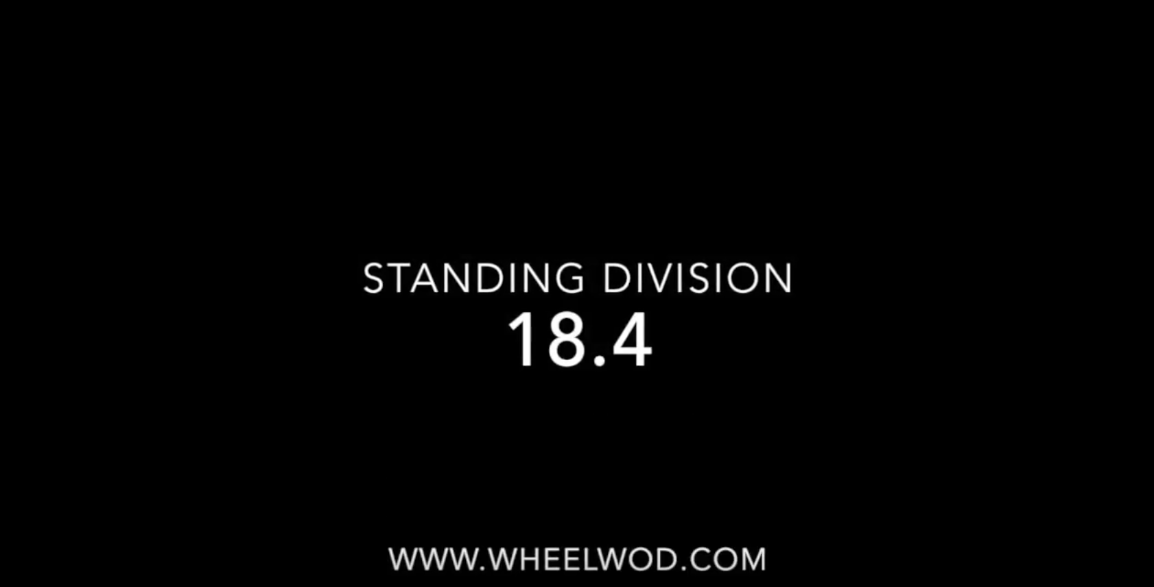 WHEELWOD OPEN Standing 18 4
